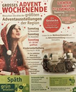 Gartencenter Späth Zeitungsanzeige